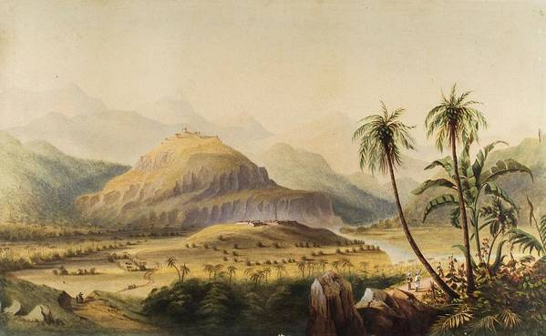 Anglo-indian School (19th Century) Rural Indian Landscape Art Print featuring the painting Rural Indian Landscape by MotionAge Designs