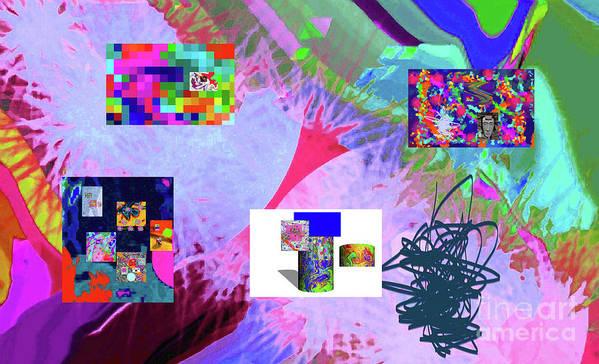 Walter Paul Bebirian Art Print featuring the digital art 4-18-2015babcdefghijklmnopqrtuvwxyzabcdefg by Walter Paul Bebirian