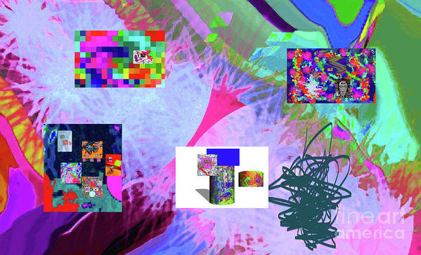 Walter Paul Bebirian Art Print featuring the digital art 4-18-2015babcdefghijklmnopqrtuvwxyzabcdefgh by Walter Paul Bebirian