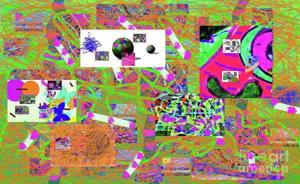 Walter Paul Bebirian Art Print featuring the digital art 5-3-2015g by Walter Paul Bebirian