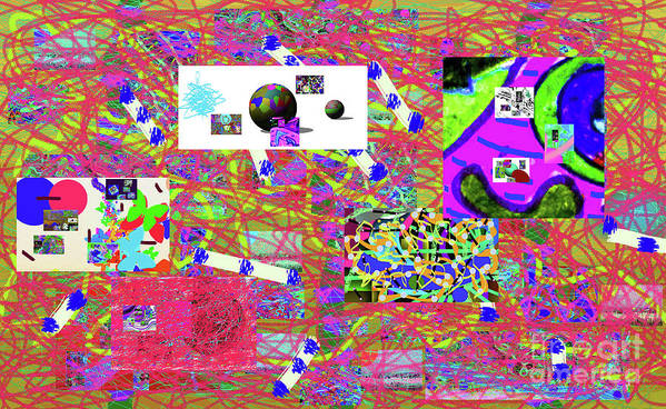 Walter Paul Bebirian Art Print featuring the digital art 5-3-2015gabcde by Walter Paul Bebirian