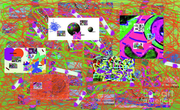 Walter Paul Bebirian Art Print featuring the digital art 5-3-2015gabcdefghijklmnopqrtuvwxyzabcdefghijklm by Walter Paul Bebirian