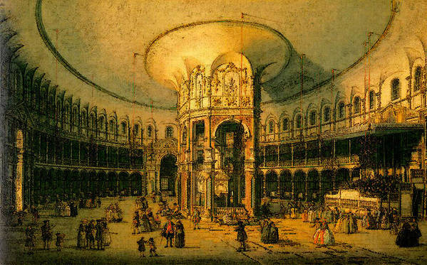 Canaletto Art Print featuring the digital art Canaletto by PixBreak Art