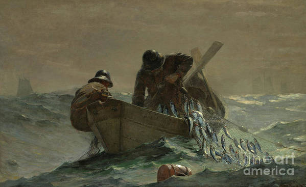 Homer Art Print featuring the painting The Herring Net by Winslow Homer