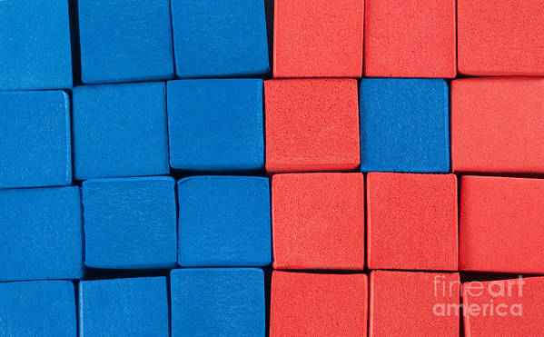 Blue Art Print featuring the photograph Blue And Orange by Dan Holm