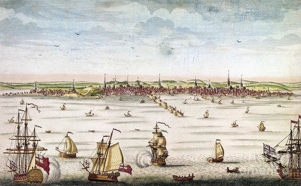 1722 Art Print featuring the photograph Boston, 1722 by Granger