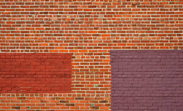 Urban Art Print featuring the photograph Brick Abstract by Stuart Allen