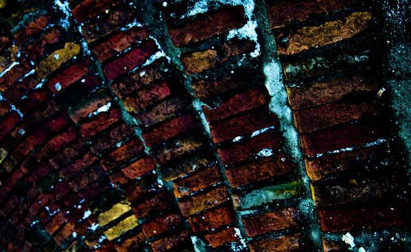 Brick Art Print featuring the photograph Brick Steps by Grebo Gray
