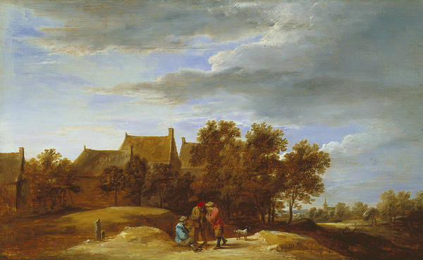 17th Century Art Art Print featuring the painting By The Wayside by David Teniers the Younger
