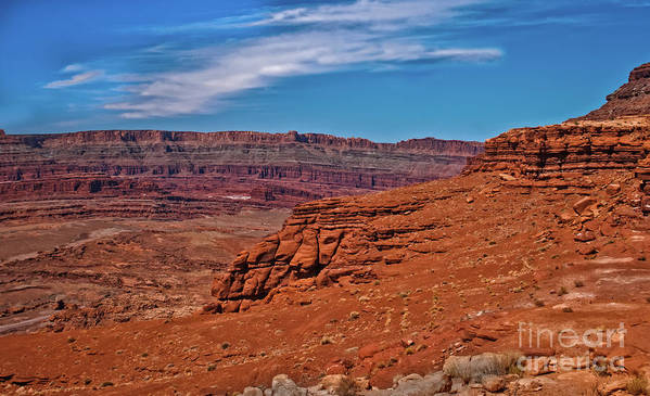 Sandstone Art Print featuring the photograph Canyon Rim by Robert Bales