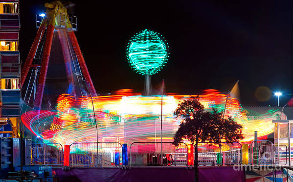 Art Print featuring the photograph Carnival Excitement by James BO Insogna