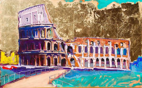 Rome Art Print featuring the painting Colosseum by Kurt Hausmann