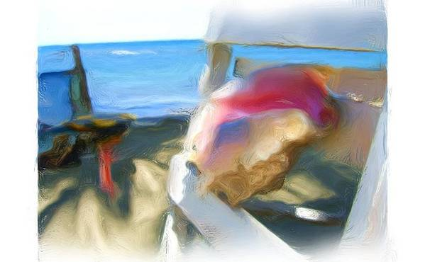 Art Print featuring the painting Conc At The Beach by Jonathan Galente