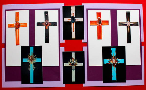 Crosses Art Print featuring the photograph Cross Collage II by M Diane Bonaparte