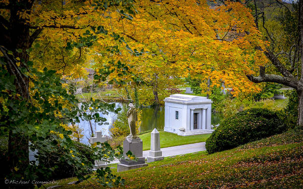 Tree Art Print featuring the photograph Fall Graves by Michael Cummiskey