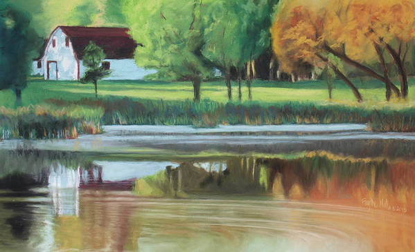 Fall Art Print featuring the pastel Fall Reflections by Faythe Mills