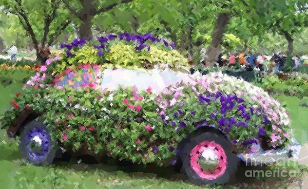 Cars Art Print featuring the photograph Flower Power by Debbi Granruth