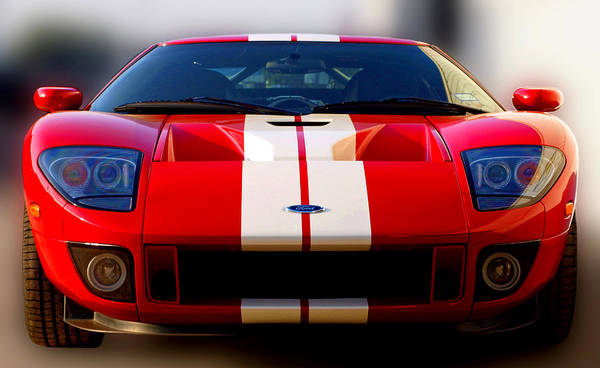 Ford Gt Art Print Featuring The Photograph Front Ford Gt By James Granberry
