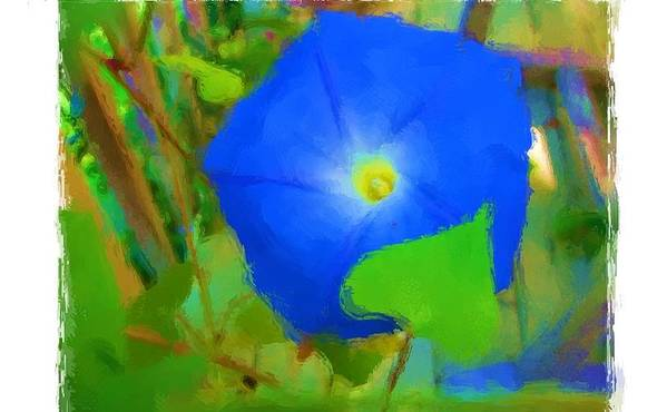 Art Print featuring the painting Good Morning Glory by Jonathan Galente