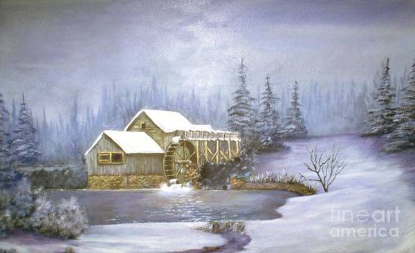 Art Print featuring the painting Grist Mill by Jerry Walker