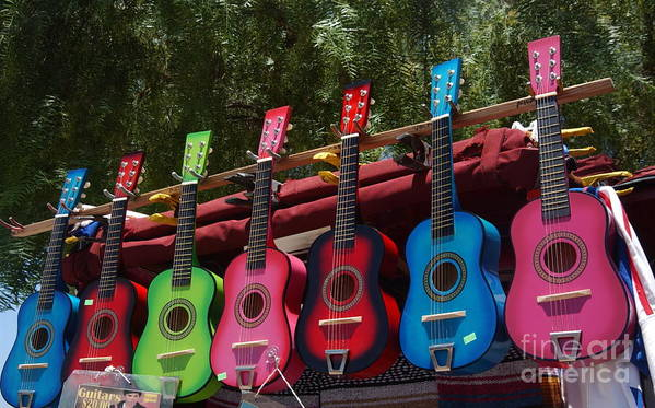 Guitars Art Print featuring the photograph Guitars In Old Town San Diego by Anna Lisa Yoder