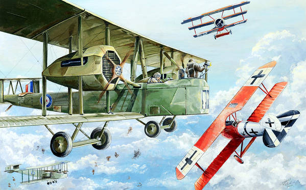 Bomber Print featuring the painting Handley Page 400 by Charles Taylor