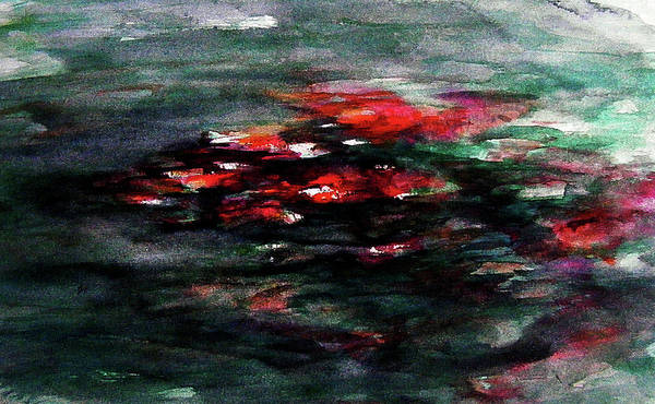 Abstract Art Print featuring the painting Hypnotic Alterations by William Russell Nowicki