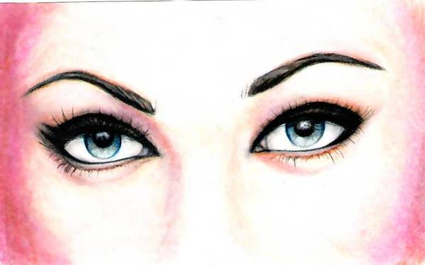 Eyes Art Print featuring the drawing I See You by Scarlett Royal