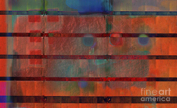 Industrial Aesthetic Art Print featuring the digital art Industrial Abstract 5 by Andy Mercer