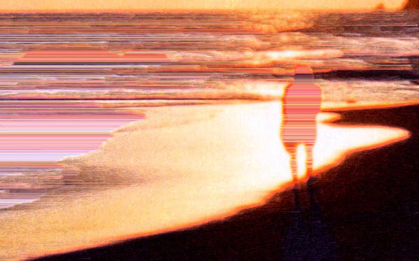 Landscape Art Print featuring the photograph Into The Sunset 5 by Lyle Crump