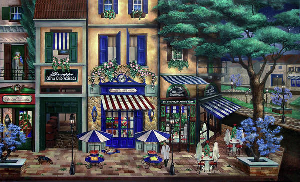 Italian Art Print featuring the mixed media Italian Cafe by Curtiss Shaffer