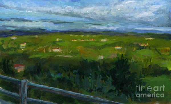 Landscape Art Print featuring the painting Italy005 Somewhere In Tuscany by Silvana Siudut
