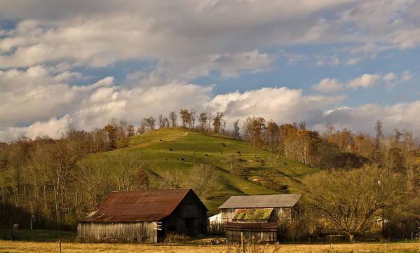Kentucky Art Print featuring the photograph Kentucky Mountain Farmland by Douglas Barnett