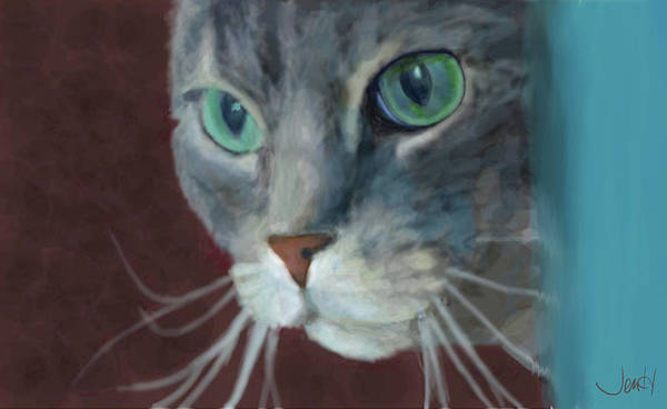 Cat Art Print featuring the painting Lullabella by Jennifer Hickey