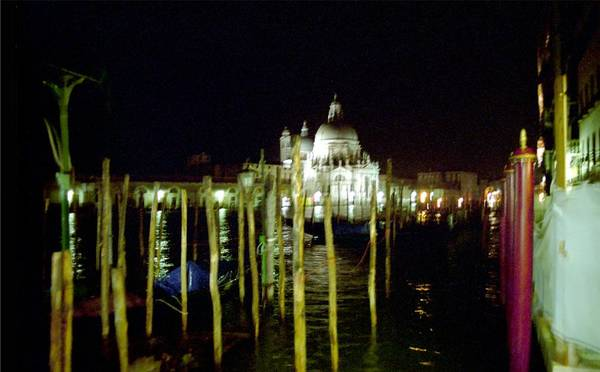 Venice Art Print featuring the photograph Maria Della Salute In Venice At Night by Michael Henderson