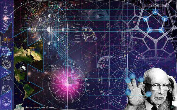 Buckminster Fuller Art Print featuring the digital art Metaphysical Gravity by Kenneth Armand Johnson