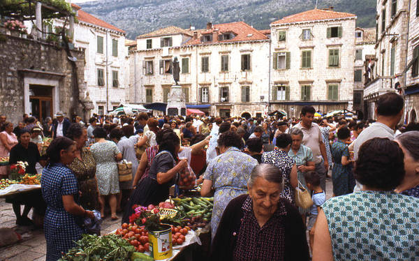 Erik Art Print featuring the photograph Montenegro Market 1969 by Erik Falkensteen