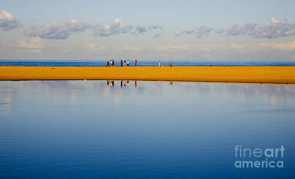 Dunes Lowry Sand Sky Reflection Sun Lifestyle Narrabeen Australia Art Print featuring the photograph Narrabeen Dunes by Sheila Smart Fine Art Photography
