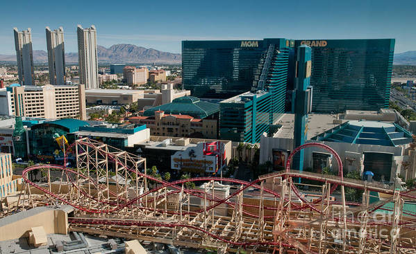 Las Vegas Art Print featuring the photograph New York New York Rollercoaster by Andy Smy