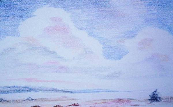 Landscape Painting Art Print featuring the painting On The Way by Suzanne Udell Levinger