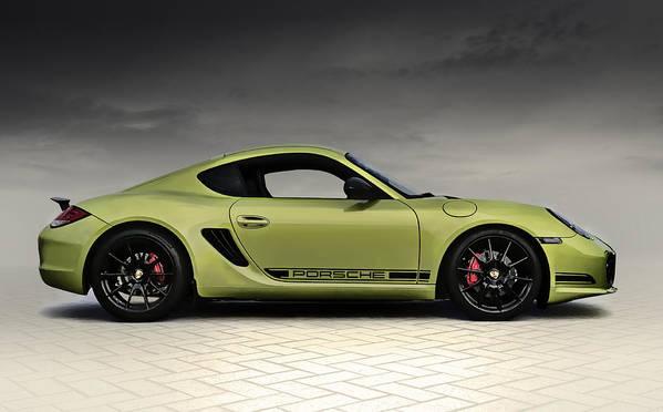 Porsche Art Print featuring the digital art Porsche Cayman R by Douglas Pittman