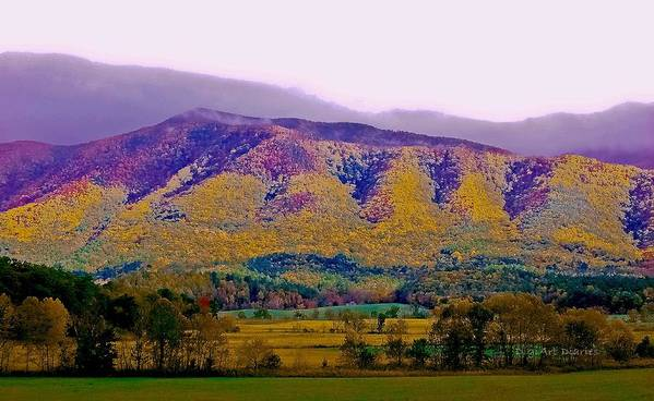 Smokey Mountains Print featuring the photograph Rainbow Mountain by DigiArt Diaries by Vicky B Fuller
