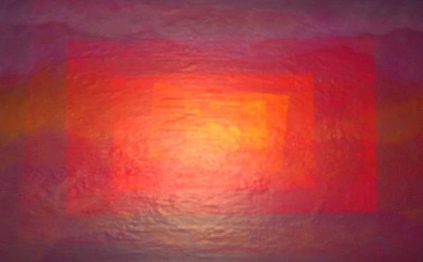 Abstract Landscape Art Print featuring the painting Rectanglands by Sally Van Driest