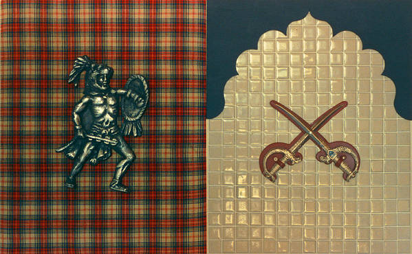 Conceptual Found Art Dada Pop Art Print featuring the print Scottish Arabian by Paul Knotter