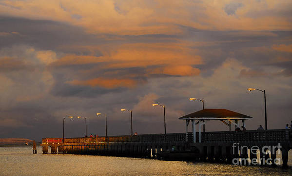 Storm Art Print featuring the photograph Storm Over Ballast Point by David Lee Thompson