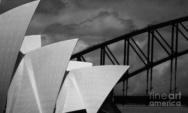Sydney Opera House Art Print featuring the photograph Sydney Opera House With Harbour Bridge by Sheila Smart Fine Art Photography