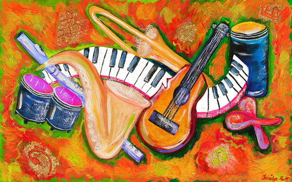 Symphony Art Print featuring the painting Symphony Of The Soul by Jessilyn Park
