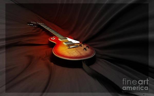 Guitar Art Print featuring the photograph The Les Paul by Steven Digman