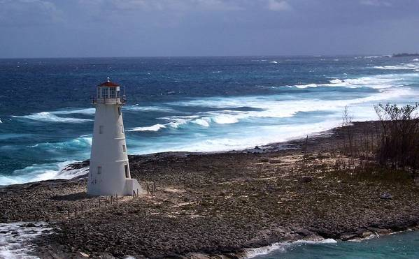 Lighthouse Art Print featuring the photograph The Lighthouse by Linda Cole