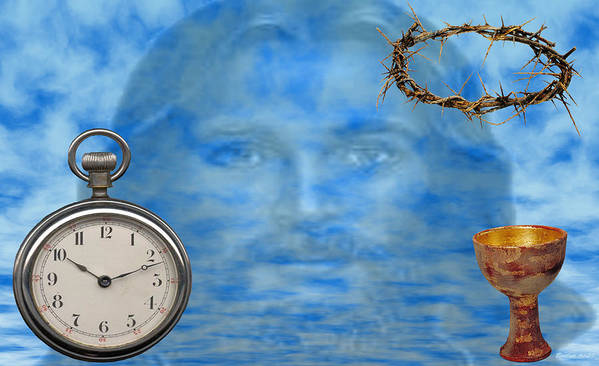 Christian Art Art Print featuring the digital art Time Is Ticking by Evelyn Patrick